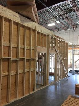 LUSH Warehouse Interior Framing